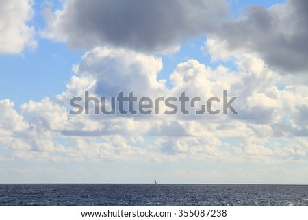 Secluded bays and beautiful coastline in Benissa Alicante Spain Cloudy sky - stock photo