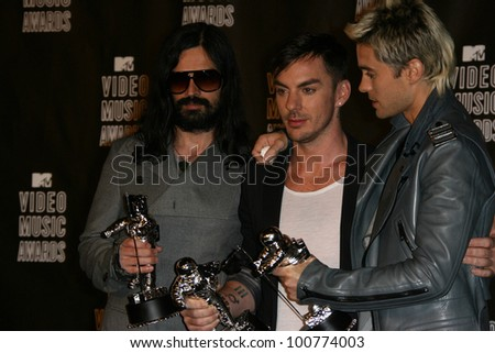 30 Seconds to Mars at the 2010 MTV Video Music Awards Press Room, Nokia Theatre L.A. LIVE, Los Angeles, CA. 08-12-10