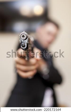 Secret agent - stock photo