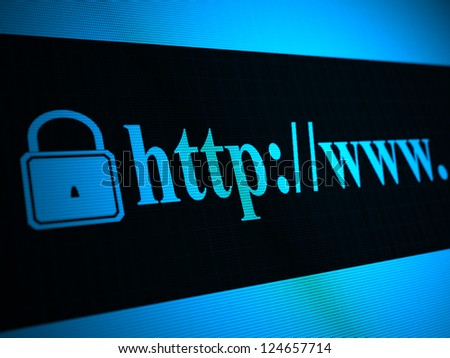 Secured connection concept - stock photo