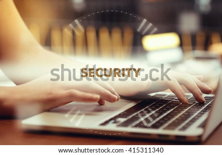 """ Security "" Internet Data Technology Concept - stock photo"
