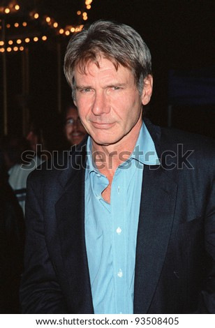 "24SEP99: Actor HARRISON FORD at the opening of Cirque du Soleil's new show ""Dralion"" in Santa Monica, CA.  Paul Smith / Featureflash - stock photo"