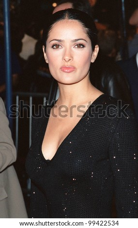 "27SEP99: Actress SALMA HAYEK at the world premiere, in Los Angeles, of ""Three Kings"" which stars George Clooney.  Paul Smith / Featureflash - stock photo"
