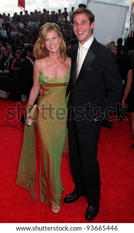 14SEP97:  ER star NOAH WYLE & wife at the Emmy Awards in Pasadena.