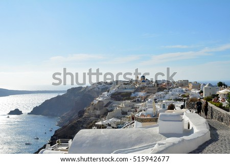 28 September 2016. Photography of white architecture in Santorini, Greece
