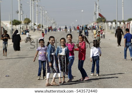23 September 2015, Sanliurfa, Turkey. Daily life in Akcakale and Harran Refugee Camps. Thousands of refugees are living in those camps.