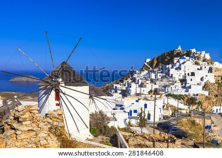 Serifos island,  view of Hora village .Cyclades - stock photo