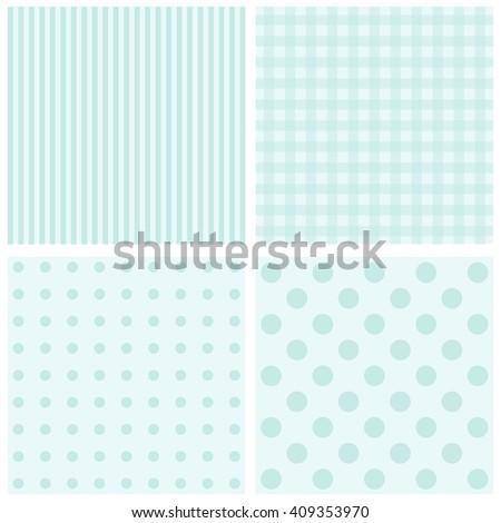 set of 4 background patterns pastel tones. - stock photo