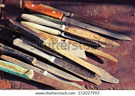 Set of the vintage knives
