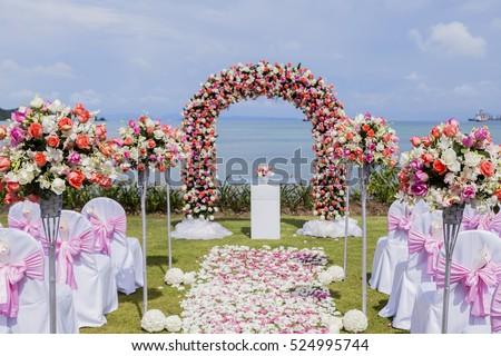 Wedding setup stock images royalty free images vectors setup wedding flowers junglespirit Image collections