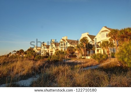 Several luxury Atlantic Ocean beach houses in Hilton Head, SC.