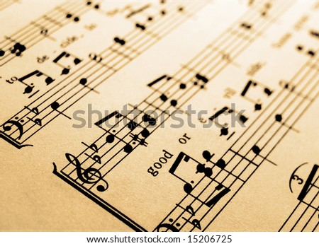 sheet music abstract