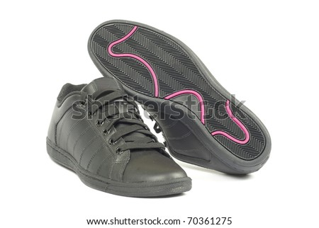shoes pair on a white background - stock photo