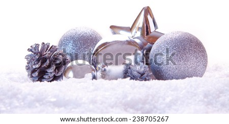 Silver Christmas decoration.