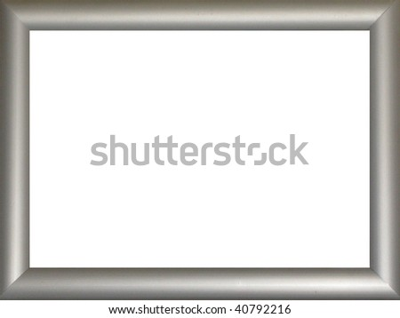 Silver Frame - stock photo