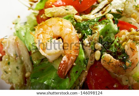 simple prawn salad