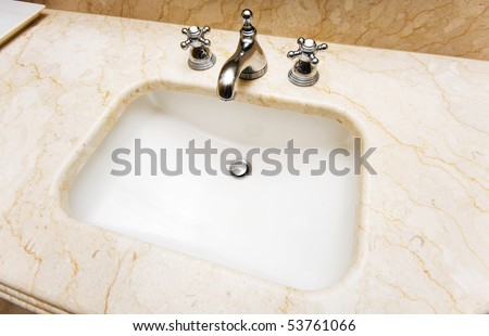 Sink in the bathroom - stock photo