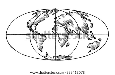 Globe sketch stock images royalty free images vectors sketch map of the world flat globe the stylized image of isolated gumiabroncs Image collections