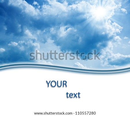 skies background with copy space - stock photo