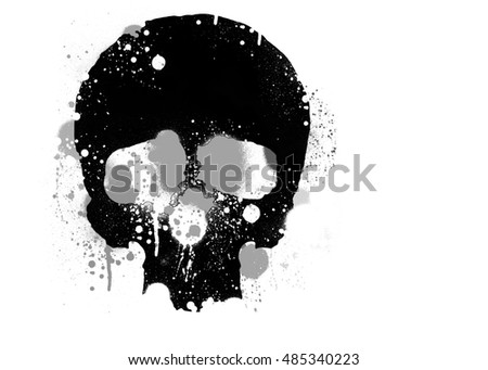 /skull illustration/skull canvas print/skull tattoo/skull art/watercolor skull/black grunge vector skull/human skull isolated on white background/skull sticker/skull banner/skull print for t-shirt