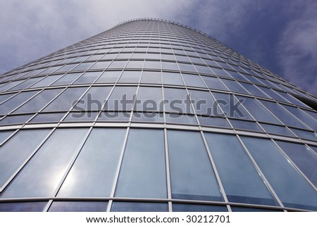 skyscraper on a blue sky background