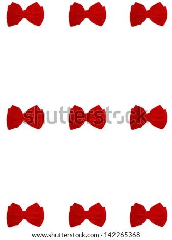 9 small bow ties card - stock photo