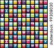 Smartphone app icon set seamless pattern background. - stock vector