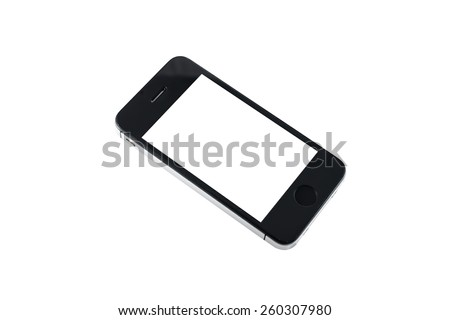 smartphone isolated on white background