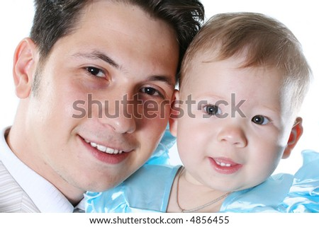 smiling happiness father daughter loving girl fun - stock photo