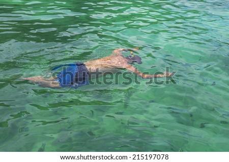 snorkel in Thailan Island - stock photo