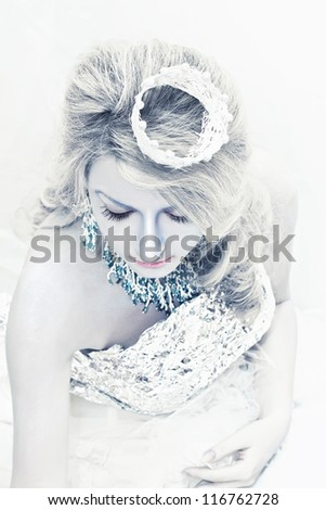 Snow queen - stock photo