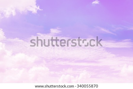 Soft blurred of  cloud background with a pastel colored orange to blue gradient. - stock photo