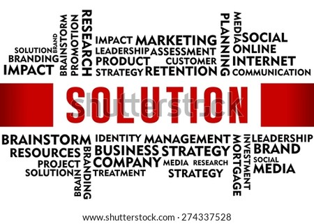 SOLUTION word with business concept