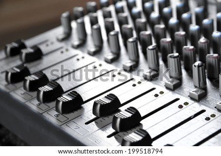 Sound Board Lite up  - stock photo