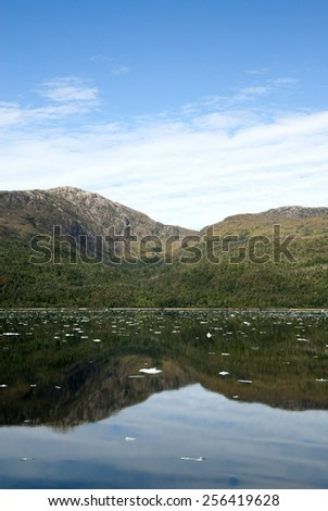 South America - Patagonia - The Inside Passage Of The Chilean Fjords / Chilean Fjords And Canal Sarmiento - stock photo