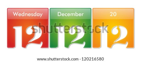 12.12.12 - Special Day - Wednesday 12 December 2012 - stock photo