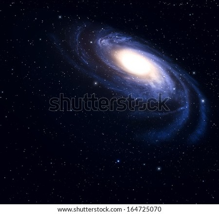 Spiral galaxy in deep space.  - stock photo