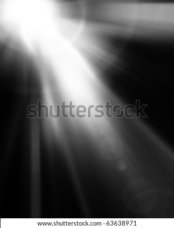 spotlight Black and White Lighting Equipment - stock photo