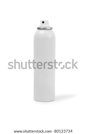 spray can isolated on white - stock photo