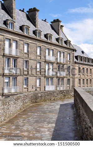 St Malo, Brittany, French  - stock photo