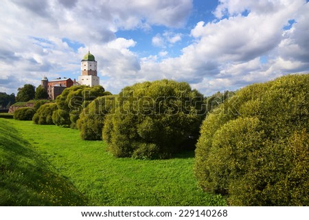 st Olaf ancient castle in Vyborg                           - stock photo
