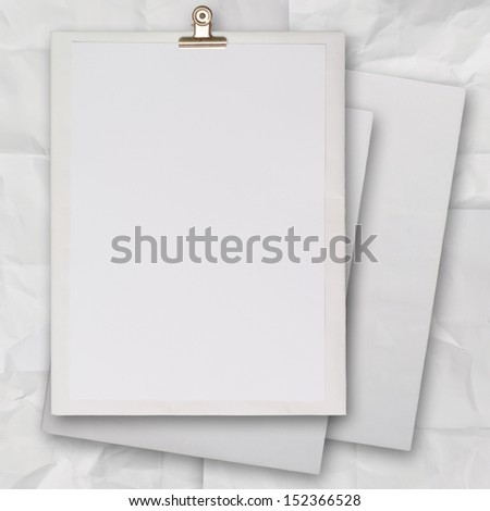 stack of blank paper book on texture background as concept