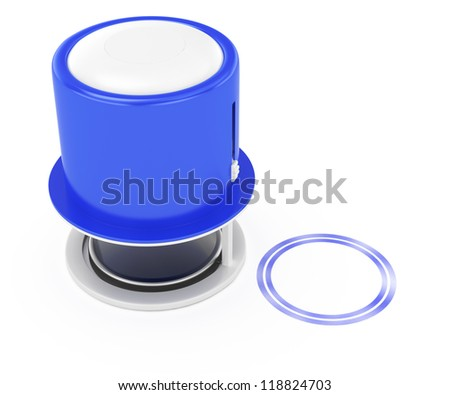 stamp isolated on white background. 3d rendered image