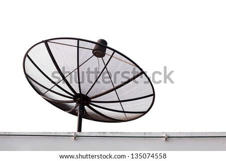 standard satellite on white background