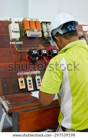 stater machine installation in progress                               - stock photo