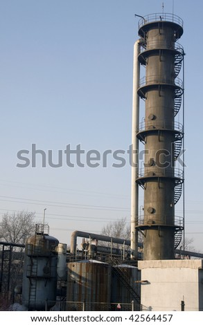 Steam power plant. Blow-off
