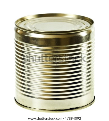 steel can isolated on the white background