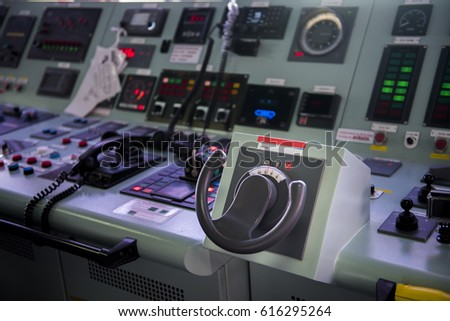 steering control  in tanker ship