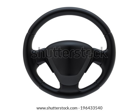 Steering wheel - stock photo