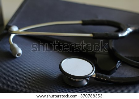 stethoscope on bag